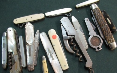 Collection of fifteen various assorted 19th C and later pock...
