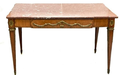 Continental Marble Top Writing Desk