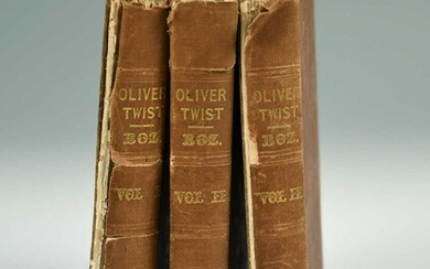 DICKENS (Charles) Oliver Twist, first edition and first issue, 3 vols., London: Richard Bentley