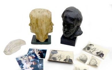 Doreen Kern (British, 1931-2021): two busts and a plaster c...