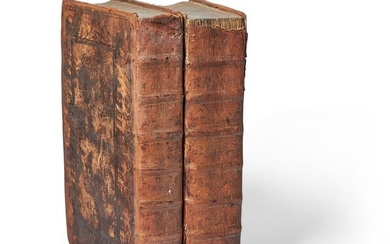 Ɵ FOXE, JOHN. [BOOK OF MARTYRS]. RERESBY SITWELL'S COPIES. 2 VOLUMES, 1610-1641