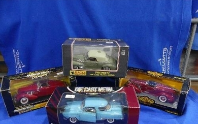 Four 1:18 scale die-cast Models, including two 'American Mus...