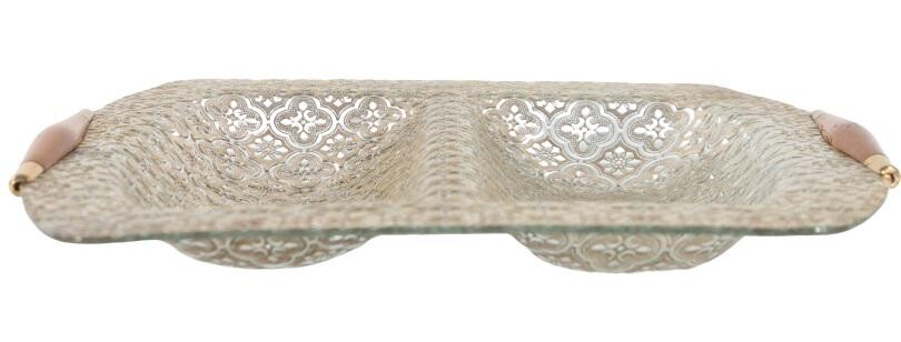 Glass Guild Divided Serving Tray