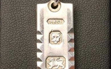 Hallmaked Sterling Silver INGOT Pendant with Chain