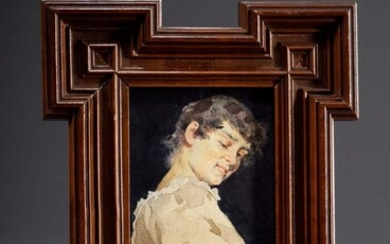 "Hermann, Giesel (1847-1906) attributed ""Junge Frau"", watercolour/paper, c. 1890, u.r...."