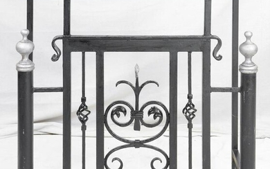 Iron Console with Marble Top