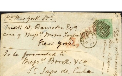 MAIL TO THE AMERICAS; Range in 1856 EL Ex Buenos Ayres to NY...
