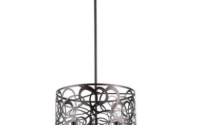 Modern Rubbed Bronze Inverted Pendant Light