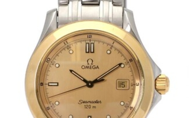 NOT SOLD. Omega: A gentleman's wristwatch of steel and gold-plated steel. Model Seamaster 120m. Quartz movement with date. 1990s. – Bruun Rasmussen Auctioneers of Fine Art