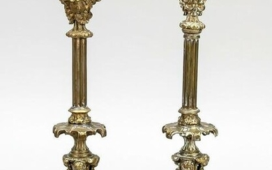 Pair of candlesticks, late 19th c