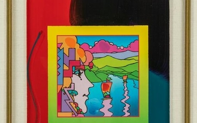Peter Max b.1937 Modern Abstract Figural Painting