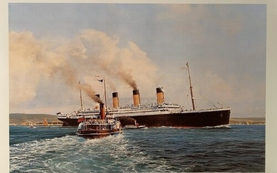 R.M.S. TITANIC: Limited edition Stephen Card print 'The Hour...