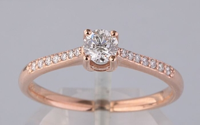 Ring 14kt with brilliant cut diamonds 0.54ct