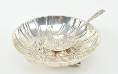 S. Kirk & Son sterling silver dish and serving spoon