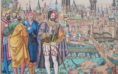 SCHMIT & CIE : PARIS IN THE FIFTEENTH CENTURY, FROM A TAPESTRY FROM BEAUVAIS
