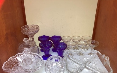 SECTION 9. A collection of cut glassware including a hors d'...