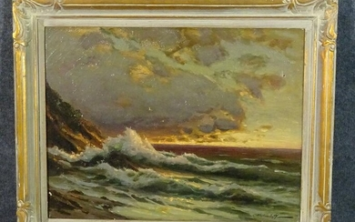 SIGNED OIL ON CANVAS PAINTING SEASCAPE