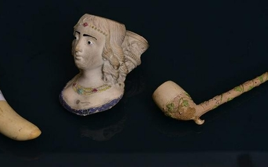 Two French Gambier A Paris Clay Tobacco Pipes