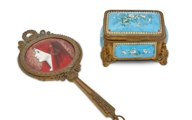 Two French Limoges-style vanity items