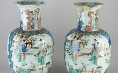 Two large rare 18th - 19th century Chinese porcelain