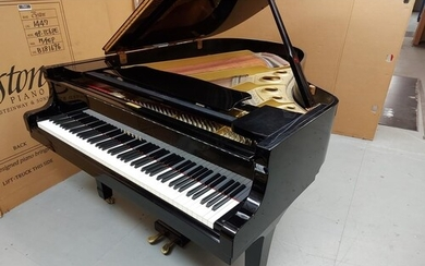 Yamaha (c1980) A 6ft 1in Model C3 grand piano in a bright eb...