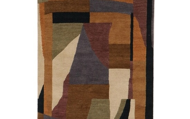 5' x 7'10 Hand-Knotted Indian Contemporary Area Rug