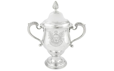 A George III sterling silver cup and cover, London 1767