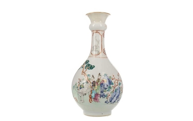 A LATE 19TH/EARLY 20TH CENTURY CHINESE FAMILLE ROSE VASE