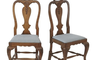 A Pair of Queen Anne Style Side Chairs.