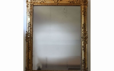 A giltwood and pastiglia framed mirror
