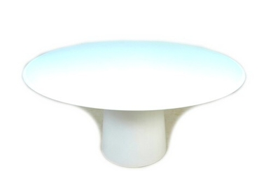 A modern Sovet circular dining table, 150 by 150 by 73.5cm h...