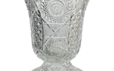 American Brilliant Crystal Cut Vase