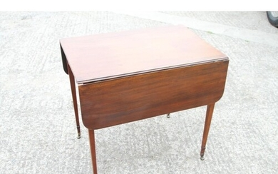 An early 19th century mahogany Pembroke table, fitted one dr...