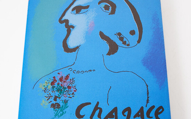 """CHAGALL, """"Lithograph 1969-1973"""", vol. IV, Fernand Mourlot, containing 2 color lithographs including covers, published by André Sauret, 1974."""