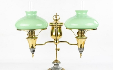 Double Miller & Co. Student Lamp