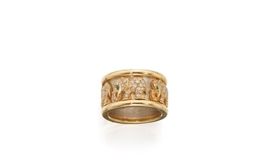 Gold, Emerald and Diamond 'Elephant' Ring, France, Cartier