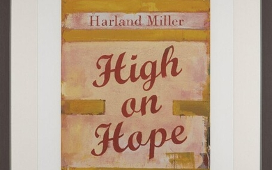 Harland Miller, British b.1964- High on Hope, 2019; screenprint in colours on 410gsm Somerset wove, signed and numbered 71/75 in pencil, printed by K2 Screen, London, published by Counter Editions, Margate, image 67 x 44.5cm (framed) (ARR)