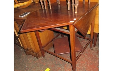 Mahogany Envelope Table.