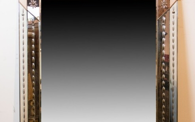 Mirror with frame in mirror glass