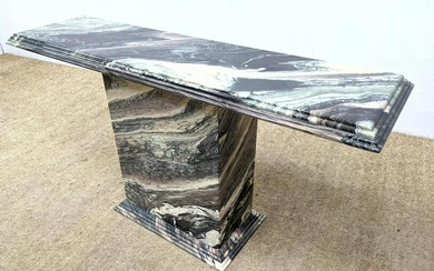 Natural Marble Stone Pedestal Base Console Table. Hall