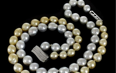 Pearl, Diamond and 18K Necklace