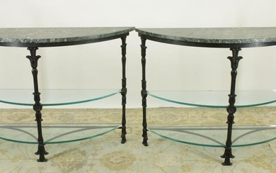 Pr. of Iron Classical Style Console Table