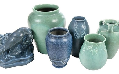 Rookwood Art Pottery Vases and Bookend