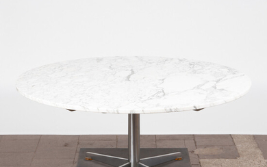 Table / coffee table, marble, steel, 1970s.