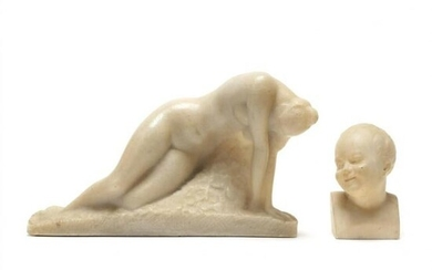 Two Small Figural Sculptures, including Vincent Glinsky