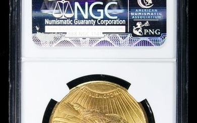 1927 St. Gaudens $20 gold 'double eagle' NGC MS 65
