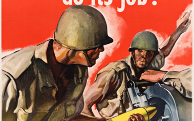 VARIOUS ARTISTS [WORLD WAR II] Group of 5 posters 1940s Siz