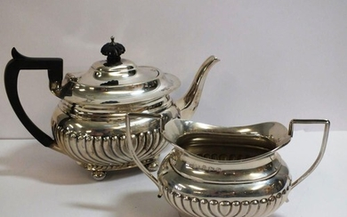 VINTAGE STERLING SILVER TEAPOT AND SUGAR BOWL HALLMARKS FOR ...