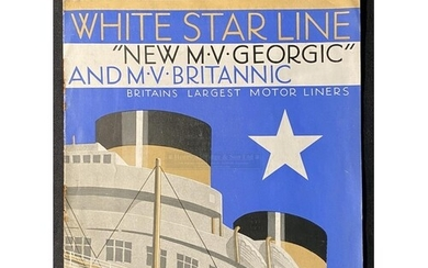 WHITE STAR LINE: Tourist-Class accommodation brochure for th...