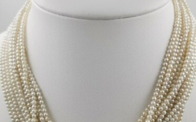 14 kt. Akoya pearls - Necklace Pearl - Pearl, Pearls